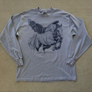 Vintage Thin Pegasus Long Sleeve Tshirt